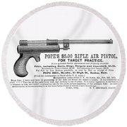 Advertisement: Air Pistol Round Beach Towel
