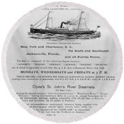 Advertisement: Steamship Round Beach Towel