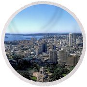 Aerial View - Sydney Harbour Round Beach Towel