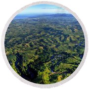 Aerial View Of The Nadi River Winding Round Beach Towel