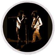 Aerosmith In Spokane 29b Round Beach Towel