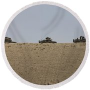 Afghan Army Convoy Drives Round Beach Towel
