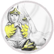 Aflac Baby Duck Round Beach Towel