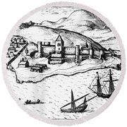 Africa: Portuguese Fort Round Beach Towel