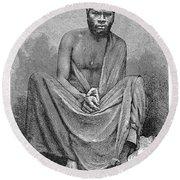 Africa: Yao Chief, 1889 Round Beach Towel