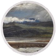 After Rain Round Beach Towel by Henry Moore