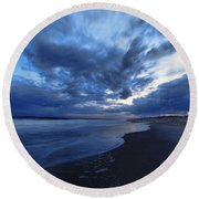 Afterglow On Fire Island Round Beach Towel