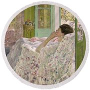 Afternoon - Yellow Room Round Beach Towel