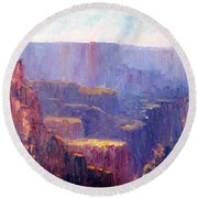 Afternoon In The Canyon Round Beach Towel