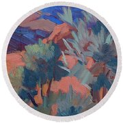 Afternoon Light - Santa Rosa Mountains Round Beach Towel