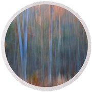 Afternoon Trees Round Beach Towel