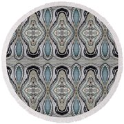 Agate-38e Border Tiled Round Beach Towel
