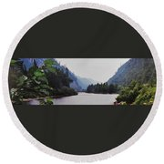 Agawa Round Beach Towel