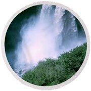Agoyan Falls Round Beach Towel
