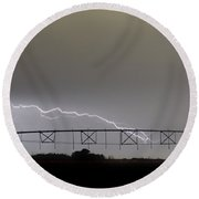Agricultural Irrigation Lightning Bolts Round Beach Towel by James BO  Insogna