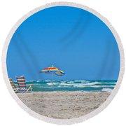 Ahhh Vacation Round Beach Towel