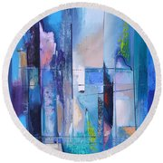 Air And Water Round Beach Towel