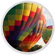Air Balloon Last Call Round Beach Towel