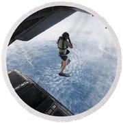 Air Force Pararescueman Jumps Round Beach Towel