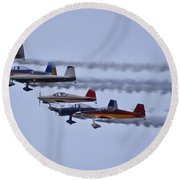 Air Show Flyover Round Beach Towel
