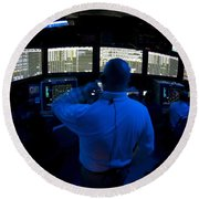 Air Traffic Controller Watches Round Beach Towel