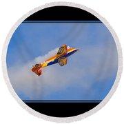Airplane In Flight Round Beach Towel