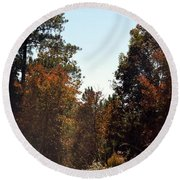 Alabama Mountainside October 2012 Round Beach Towel