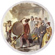 Alabama: Recruitment, 1861 Round Beach Towel