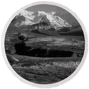 Alaska Valley Round Beach Towel