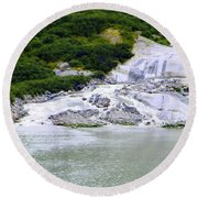 Alaskan Ice Melt Round Beach Towel