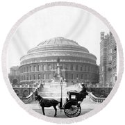 Albert Hall In London - England - C 1904 Round Beach Towel