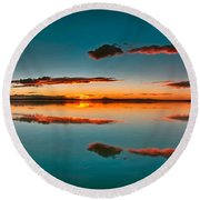 Albufera Panoramic View. Spain Round Beach Towel