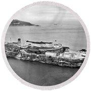 Alcatraz Island And Prison Round Beach Towel