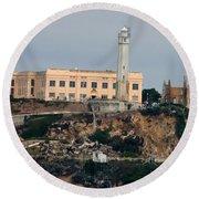 Alcatraz Island Lighthouse - San Francisco California  Round Beach Towel