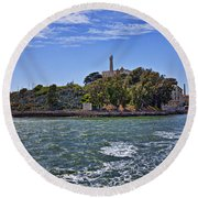 Alcatraz Island San Francisco Round Beach Towel