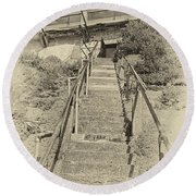 Alcatraz Two-way Work Staircase Round Beach Towel
