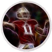 Alex Smith - 49ers Quarterback Round Beach Towel