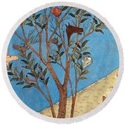 Alexander The Great At The Oracular Tree Round Beach Towel by Photo Researchers