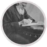 Alfred Russel Wallace Round Beach Towel by Science Source