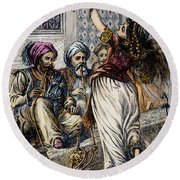 Ali Baba And 40 Thieves Round Beach Towel