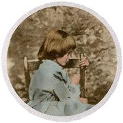 Alice Liddell, Alices Adventures Round Beach Towel by Science Source