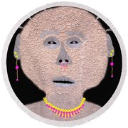 Alien  Lifeform From  Stucco  World  -  One Round Beach Towel