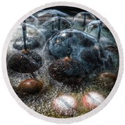 Alien Lifeform Round Beach Towel