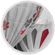 All About Red Round Beach Towel
