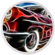 All American Hot Rod Round Beach Towel
