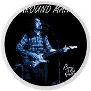 All Around Man Blues Square Round Beach Towel
