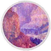 All Canyon Round Beach Towel