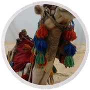 Camel Fashion Round Beach Towel