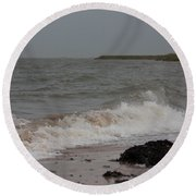 All Hallows Wave Round Beach Towel