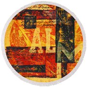 All Is Calm Round Beach Towel